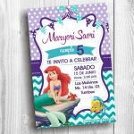 Plantilla de Invitación de Sirenita – Little Mermaid Invitation Free