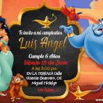 Plantilla Invitación de Aladino – Aladdin Birthday Invitation FREE