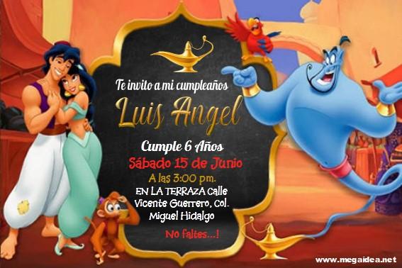 Aladin Invitacion