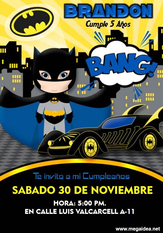 Invitaciones De Batman Para Editar Gratis Mega Idea