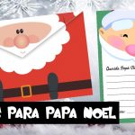 Carta Navideña para Papá Noel Gratis para Imprimir con Sobre