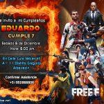Plantilla Invitación de Free Fire – Free Fire invitation