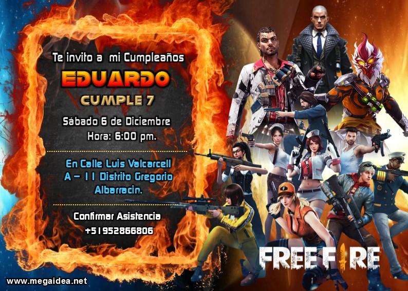 Free Fire Invitacion
