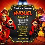 Invitacion de los Increibles en Powerpoint Editable – The Incredibles Birthday Invitation