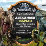 Plantilla Invitación de Jurassic World – Jurassic World Invitation Personalized Free