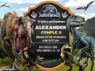 Jurassic World Invitacion