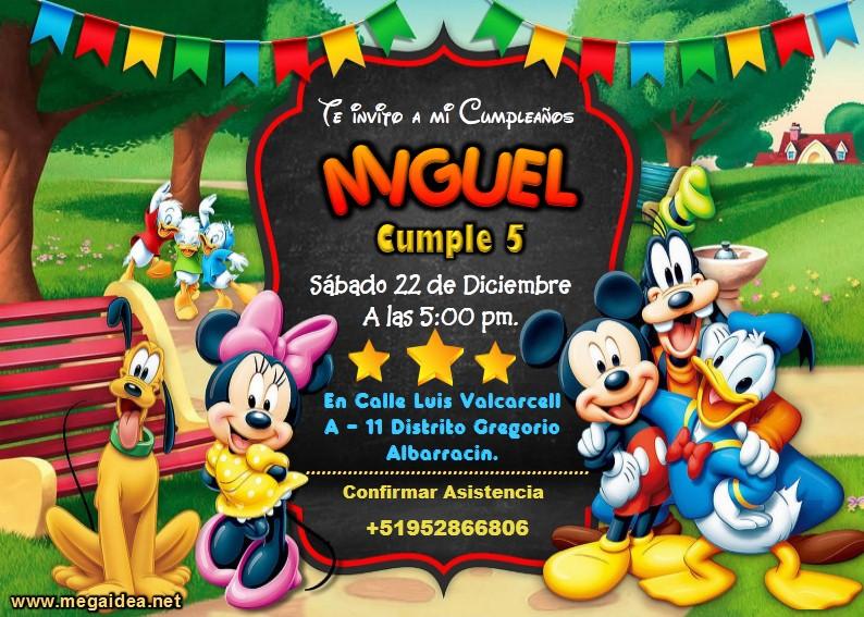 Mickey Amigos Invitacion