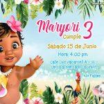 Invitación Moana Bebe en Powerpoint Gratis – Baby Moana Invitation Prints