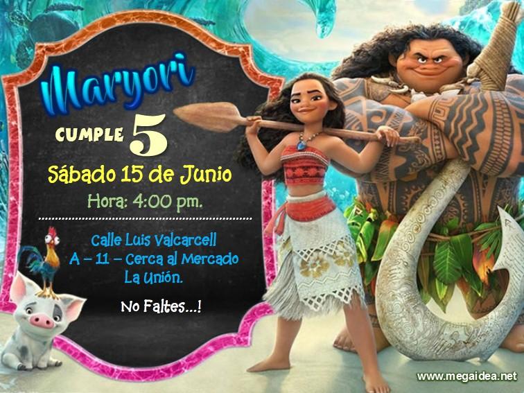 Plantilla De Moana En Powerpoint Moana Birthday Free