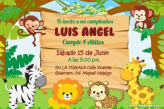 Invitación De Animalitos Safari 2 En Powerpoint Mega Idea