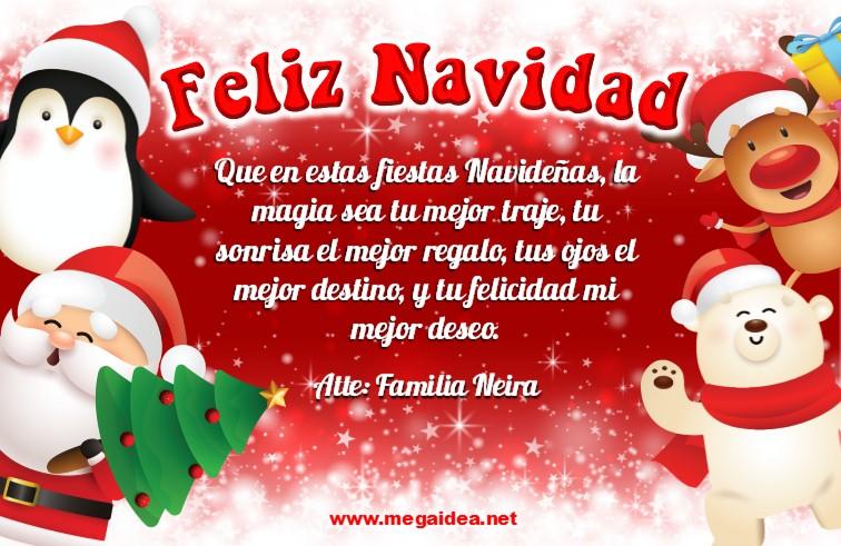 Plantilla Tarjeta De Navidad 05 Personalised Christmas