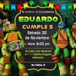 Plantilla de Tortugas Ninja en PowerPoint – Teenage Mutant Ninja Turtle Invitations