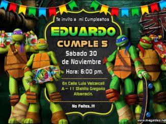 Tortugas Ninja Invitacion