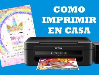 como imprimir en casa