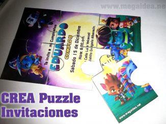 crear puzzle invitaciones