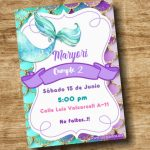 Invitacion de Cola de Sirena – Mermaid Invite Free