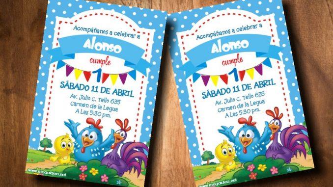 Invitación De La Gallinita Pintadita Para Niño En Powerpoint