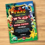 Plantilla Invitación de Pokemon – Pokemon Invitation – Pokemon Invite