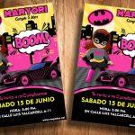 Invitaciones de Batgirl para Editar GRATIS