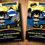Invitaciones de Batman para Editar GRATIS