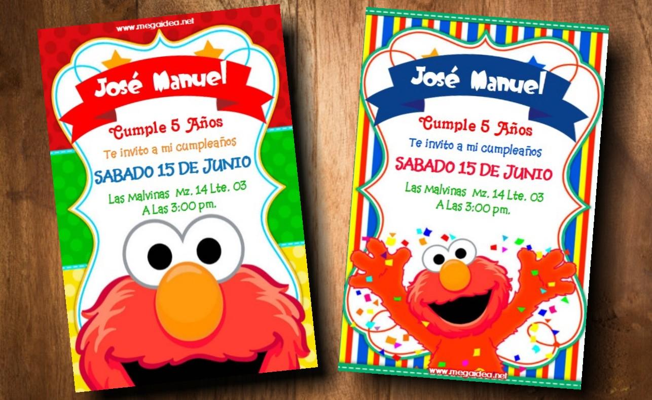 Invitaciones De Elmo Para Editar Gratis Mega Idea
