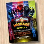 Plantilla Invitación de Power Rangers – Power Rangers Invitation FREE