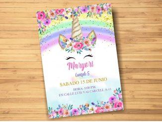 unicornio invitacion333