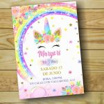 Plantilla de Unicornio Arcoiris en PowerPoint – Unicorn Birthday Free