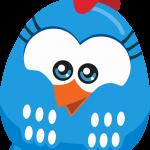 Gallinita pintadita mini azul