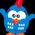 Gallinita pintadita mini azul02