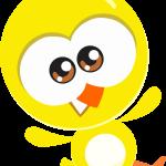 Gallinita pintadita mini pollito amarillo