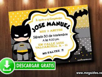 batman boy invitacion muestra