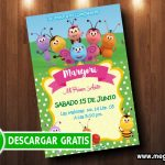 Invitación de Cumpleaños Bichikids GRATIS