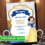 Invitación Blanca Nieves Digital GRATIS