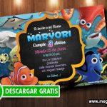 Tarjetas de Invitacion Buscando a Nemo