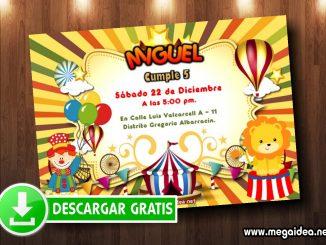 circo invitacion muestra