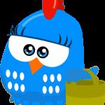 gallina pintadita azul mini clipart