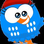 gallina pintadita mini azul clipart