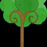 gallina pintadita mini clipart arbol 2