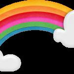 gallina pintadita mini clipart arcoiris 2