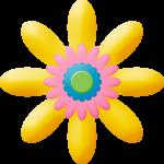 gallina pintadita mini clipart flor