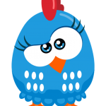 gallina pintadita mini clipart gallinita azul