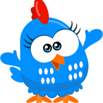 gallina pintadita mini clipart gallinita azul 222