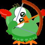 gallina pintadita mini clipart gallinita verde