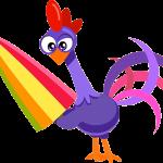 gallina pintadita mini clipart gallo morado