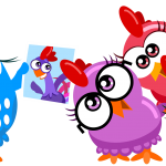 gallina pintadita mini clipart personajes 1