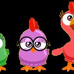 gallina pintadita mini clipart personajes 10