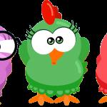 gallina pintadita mini clipart personajes 52