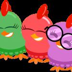 gallina pintadita mini clipart personajes 56