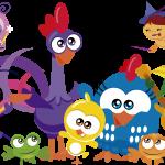 gallina pintadita mini clipart personajes 64